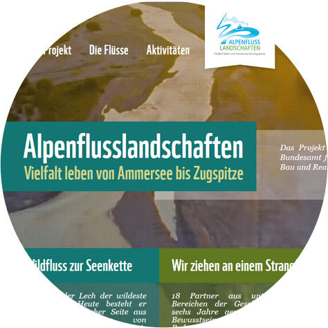 Alpenflusslandschaften